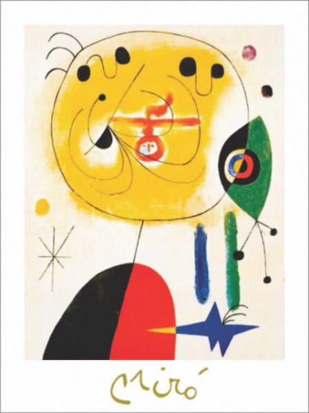 J. Miro, Et fixe les cheveux , uramljena slika 40x50cm