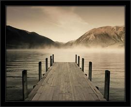 Slika Jetty jezero, uramljena slika