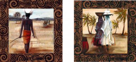 Mansa, dve uramljene slike 30x30cm svaka