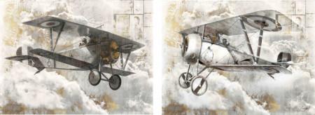 Slika Old war planes, dve uramljene slike 30x40cm svaka