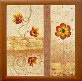 Slika Setni cvetovi uramljena slika