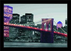 Svetla mosta u Bruklinu, uramljena slika