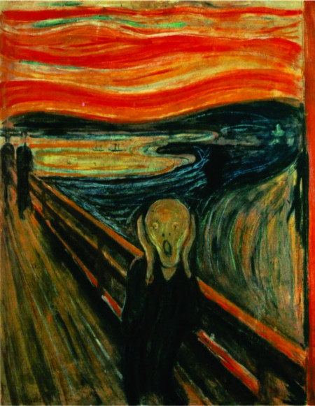 The Scream-Vrisak, E. Munk, uramljena slika 50x70cm