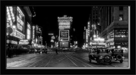 Times Square at night-1910, framed picture images