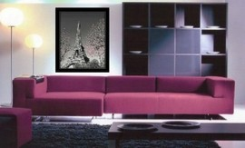 Eiffel tower, framed picture images
