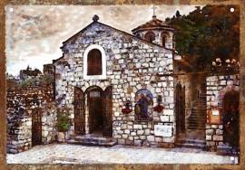 Slika Crkva Ružica - Kalemegdan retro tabla