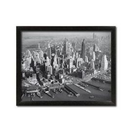 Slika Crno beli grad, uramljena slika