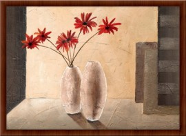 Slika Crveni buket, uramljena slika, 60x90