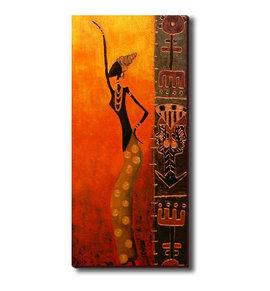 Slika Devojka igra afrički ples 2, slika na medijapanu