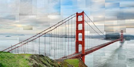 Golden Gate San Francisco, uramljena slika 50x100cm