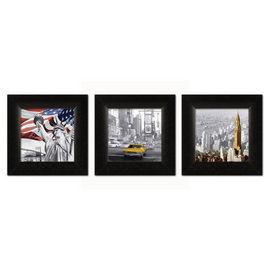 New York triptih, tri uramljene slike