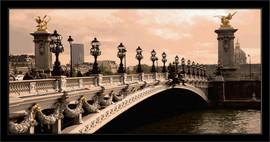 Slika Novi most u Parizu, uramljena slika