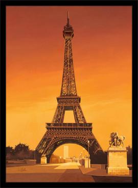 Slika Pariz, Ajfelov toranj, uramljena slika