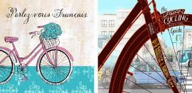 Slika Two bicycles dve slike, dve uramljene slike 50x50cm