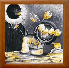 Slika Žuto cveće, uramljena slika