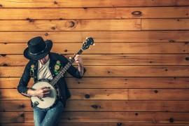 Benzo music man, uramljena slika 45x55 cm