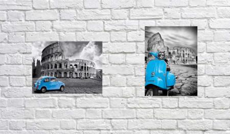 Slika Blue Colosseum, dve uramljene slike 30x40cm svaka