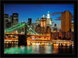 Slika Bruklin most noću, uramljena slika