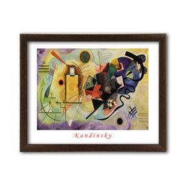 Gelb Rot Blau, Wassily Kandinsky, uramljena slika