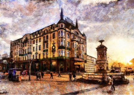 Hotel Moskva, uramljena slika 50x70cm