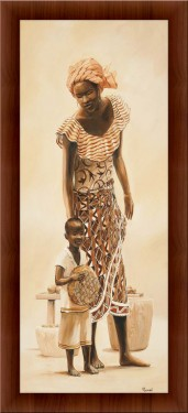 Slika Majka i dete 2, uramljena slika