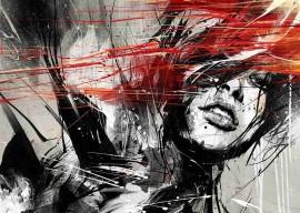 Slika Red hair, uramljena slika 50x70cm