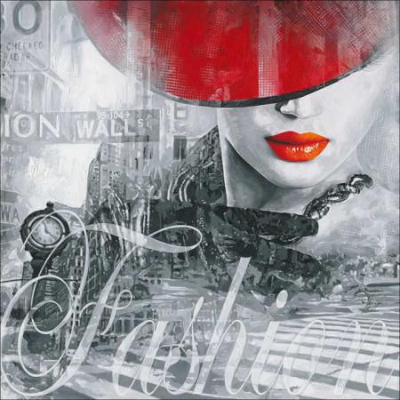 Red lady fashion, uramljena slika 70x70cm