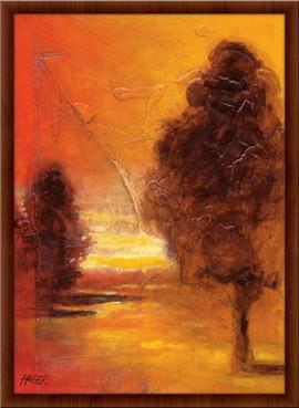 Slika Tiha livada, uramljena slika