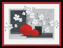 Belo cveće za mir i nežnost, uramljena slika