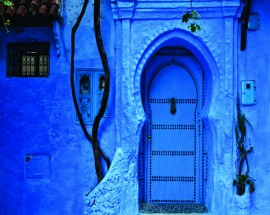 Slika Blue city , uramljena slika 45x55 cm