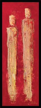 Slika Dve skarletne visine, uramljena slika