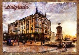 Slika Hotel Moskva retro-tabla