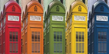 Slika London telephone , uramljena slika 50x100cm