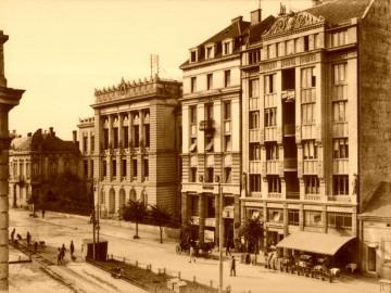 Makedonska zgrada Politike, uramljena slika