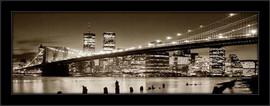Slika Most u Bruklinu noću, uramljena slika