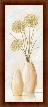 Nezni beli cvetovi 2, uramljena slika