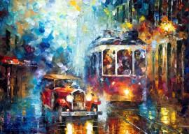 Old tram, uramljena slika 50x70cm