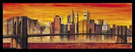 Slika Bruklinski most u boji, uramljena slika