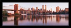 Slika Bruklinski most u svitanje, uramljena slika