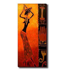 Devojka igra afrički ples, slika na medijapanu