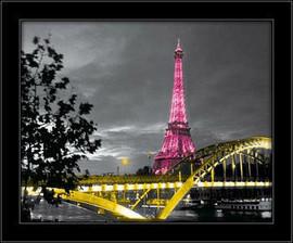 Glamurozni Pariz, uramljena slika