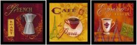 Slika Kafa za dobro jutro, tri uramljene slike