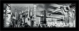 Slika Njujork, Menhetn i Bruklin, uramljena slika