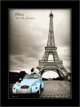 Slika Pariz 3D uramljena slika