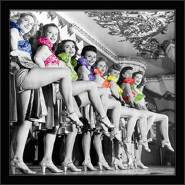 Show girls, 30x30, uramljena slika