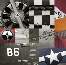 Stari avioni, uramljena slika