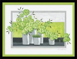 Slika Zeleno cveće za zdravlje i mladost, uramljena slika