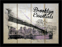 Brooklyn essentials, framed picture