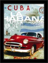 Kuba La Havana, uramljena slika