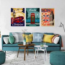 Old posters London , tri uramljene slike 30x40cm svaka